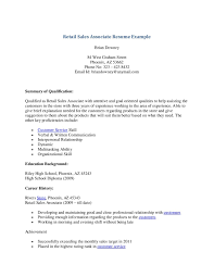 Sample Resume For Cashier Sales Associate Valid Retail Objective