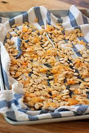 Toasting Pumpkin Seeds In Microwave by How To Roast Pumpkin Seeds Plus Three Tasty Variations Kitchen