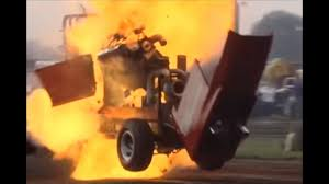 100 Monster Truck Fails Tractor Pulling Crashes Explosions OLD CAR TV REVIEW