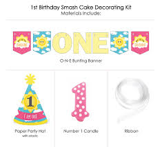 You Are My Sunshine 1st Birthday - First Birthday Girl Smash Cake  Decorating Kit - High Chair Decorations Luv Lap Luvlap Baby High Chair 8113 Sunshine Green Chairs Ribbon Garland Banner Tutorial My Plot Of Chiccos Polly Highchair Stylish Rrp 99 In Mothercare I Love Arc Highchair Boppy Shopping Cart And Cover Luvlap Highchair Assembling Video Amazoncom Age Am One Party Brevi Bfun Red Yellow