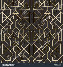 100 Art Deco Shape Vector Modern Geometric Tiles Pattern Golden