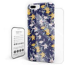100 Flannel Flower Glass Amazoncom Durable Phone Case For IPhone 7iPhone 8