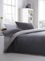 Black and white fine stripe jersey bedding cotton & co shop by