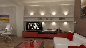 bilder 3d interieur wohnzimmer rot weiß 1