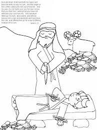 Abrahams Son Isaac Coloring Page
