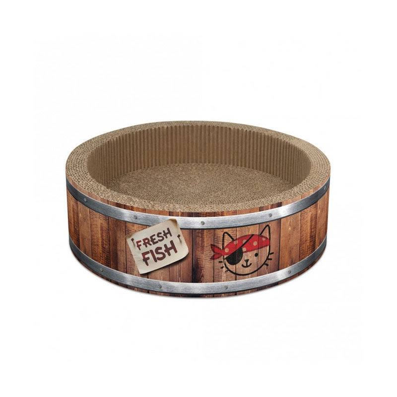 Catit Play Pirates Barrel Cat Scratcher, Small