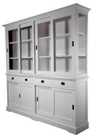vitrinen schrank como 220cm in weiß massivholz vitrine mit