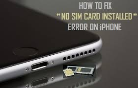 How to Fix No Sim Card Installed Error on iPhone