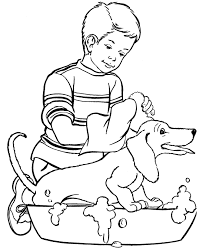 Dog Coloring Page On Christmas Pages For Adults