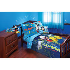 Mickey Mouse Bathroom Decor Walmart by Disney Mickey Zero Gravity 4 Piece Toddler Bedding Set Walmart Com