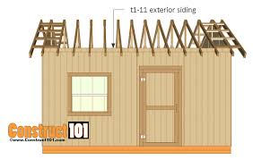 12x16 Storage Shed Plans by 12x16 Shed Plans Gable Design Construct101
