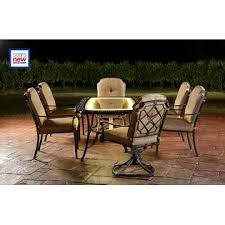 Agio Patio Furniture Touch Up Paint by Agio International Bella Luna 7pc Lighted Dining Set Limited