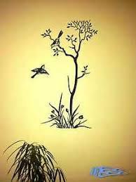 details zu wandtattoo baum mit vögeln oracal matt wohnzimmer wandaufkleber deko