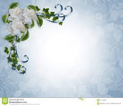 cadre photo mariage gratuit gardenias de cadre d invitation de mariage images libres de droits