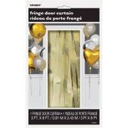 metallic gold foil fringe curtain walmart com