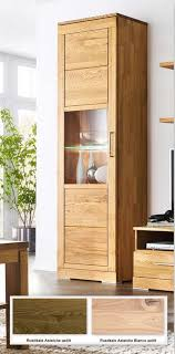 vitrine schmal asteiche massiv casera schrank mit glas 64x217 6x42 cm casade mobila