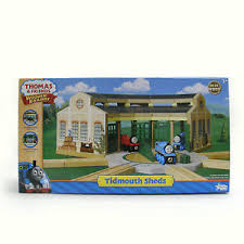 new in box thomas tank engine tidmouth sheds roundhouse wooden ebay