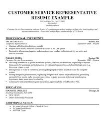 Customer Service Representative Resume Example With Professional Experience And Education Objective Statement