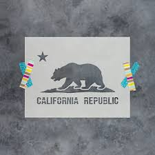 Image Is Loading California Flag Stencil Reusable Stencils Of