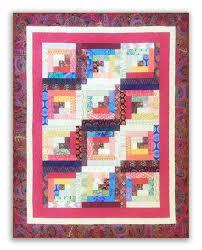 Strip Set Log Cabin Pattern – Jordan Fabrics