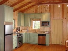 Log Cabin Kitchen Decorating Ideas by Small Cabin Kitchen With Painted Cabinets Don U0027t Love The Color