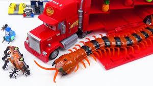 Cars 3 Toy Mack Truck Hauler Vs Huge Insect Monster. Help Lightning ...