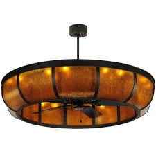 Mica Lamp Company Ceiling Fans by Ceiling Fans Series Collection Plain Dome Amber Mica