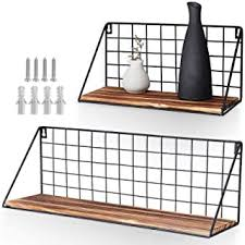 agsivo 2 stück wandregal ablage hängeregal metall gitter regal hängeregal metallregal regal für hängeregal schweberegal gitterregal küchenregal