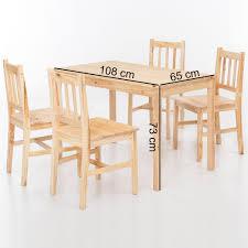 finebuy esszimmer set emilio 5 teilig kiefer holz landhaus stil 108 x 73 x 65 cm natur essgruppe 1 tisch 4 stühle tischgruppe esstischset 4