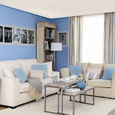 White Blue Living Room Decorating Ideas Paint And Cushions Furniture Carpet Light Decor