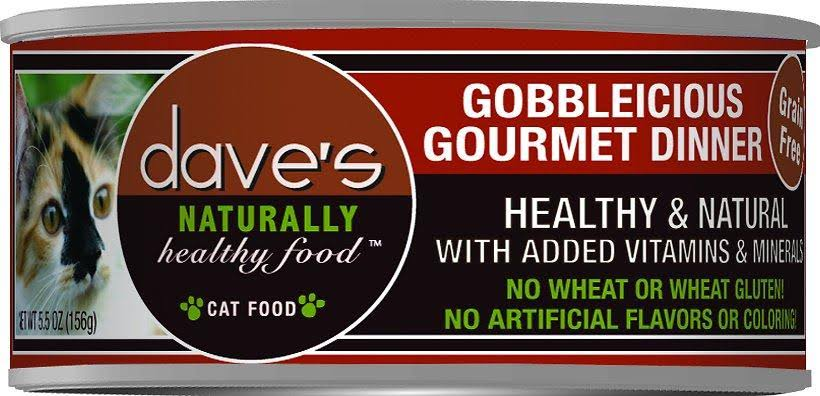 Dave's Naturally Healthy Food Cat Food - Gobbleicious Gourmet Dinner