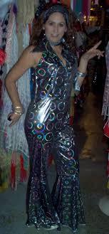 1970s Disco Jumpsuit Ladies 70s Costumes Costume Hoop Earrings Attire