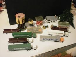 98 N Scale Trucks Lot Of Tractors Buildings Trees 1835547521
