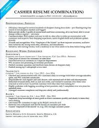 combination resume for accountant sles companion cashier image
