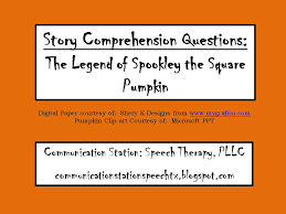 Spookley The Square Pumpkin Book Read Aloud by Freebie Monday Story Comprehension Questions Spookley The Square