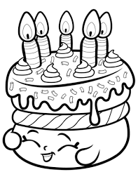 Click To See Printable Version Of Cake Wishes Shopkin Coloring Page