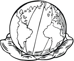 Coloring Pages The Earth For Kids Free Printable Day And Activities Full Size