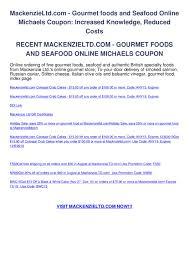Mackenzieltd.com - Gourmet Foods And Seafood Online Michaels ...