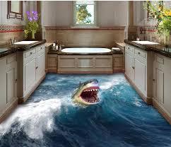 3d badezimmer tapete wasserdichte 3d shark bodenbelag dekoration wasserdichte tapete für badezimmer wand