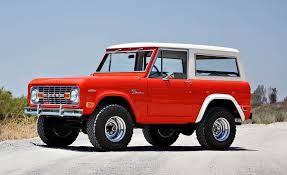 Ford Bronco Test Vehicle Restored And Up For Auction