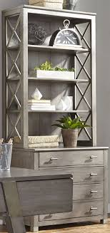 Moss Creek Gray File Cabinet with Hutch from Liberty