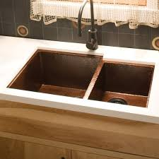 native trails cocina 33 x 22 duet copper kitchen sink wayfair