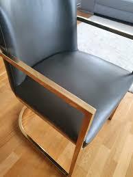 stuhl esszimmer stuhl leder grau anthrazit