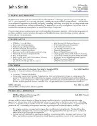 Security Resume Template Examples