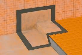 waterproofing shower system schluter