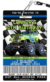 Monster Truck Birthday Invitation - PVC Invites - VIP Birthday ... Blaze And The Monster Machines Invitation Birthday Truck Cake Cbertha Fashion And The Party Supplies Canada Open Amazoncom Invitations 8ct Its Fun 4 Me 5th Themed Alanarasbachcom Machine By Free Printable Cupcake Fill In Design Sophisticated