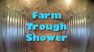 Horse Trough Bathtub Ideas by Farm Trough Shower Tiny House Youtube