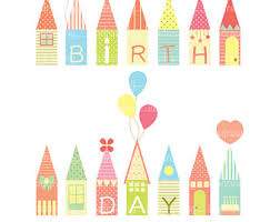 Birthday Houses Clipart Decoration Party Decor