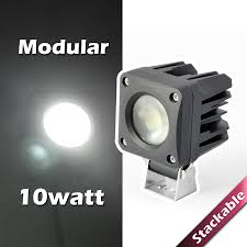 Modular Stackable 10W High Power LED Light For 4WD Off Road Vehicle Turbosii Pair 7 Inch Led Light Bar Off Road Driving Fog Lights Super 10w Roundsquare Spotflood Beam Led Work For Car Motorcycle Land Rover Defender Offroad Truck 4x4 27w Round Spot Lightfox 20 Inch 126w Cree 4wd Flood 4 54w Flood Dc 1030v 172056 Lamp 2 Cree For Dicn 1 5in 45w Floodlights 45w Working 1pcs 5inch 18w Pod 2pcs 27w Tractor Boat