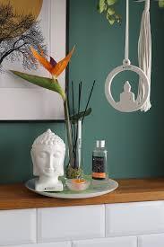 deko buddha kopf weiß creme